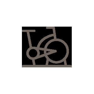 Pictogramme d'un vélo de gym