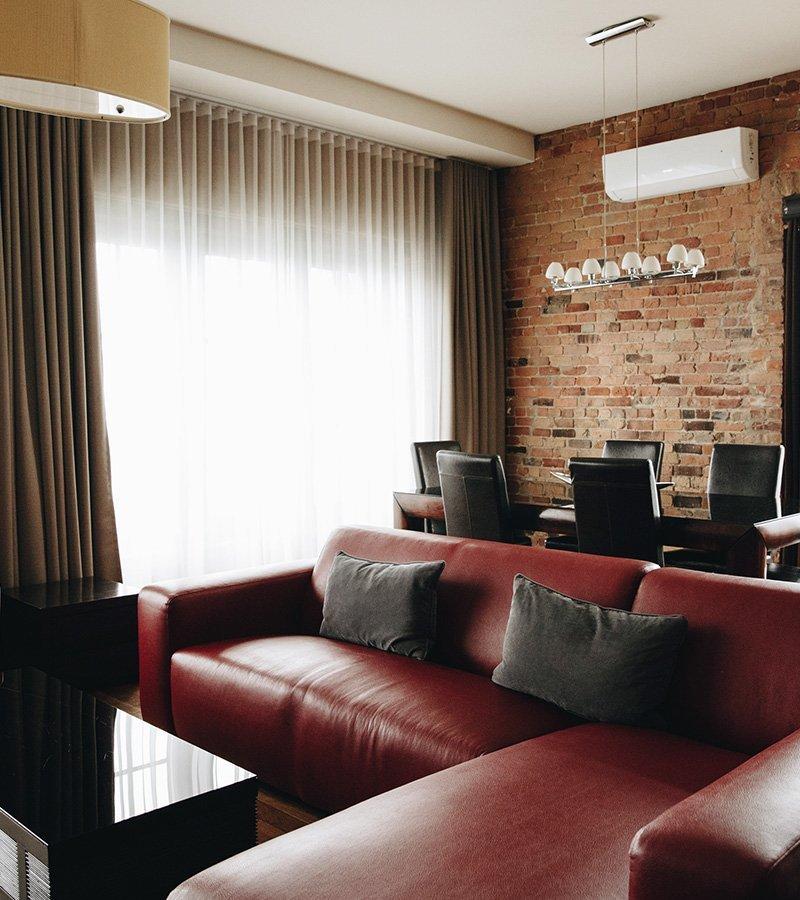 Photo de l'une des penthouses de l'Hôtel Nelligan.