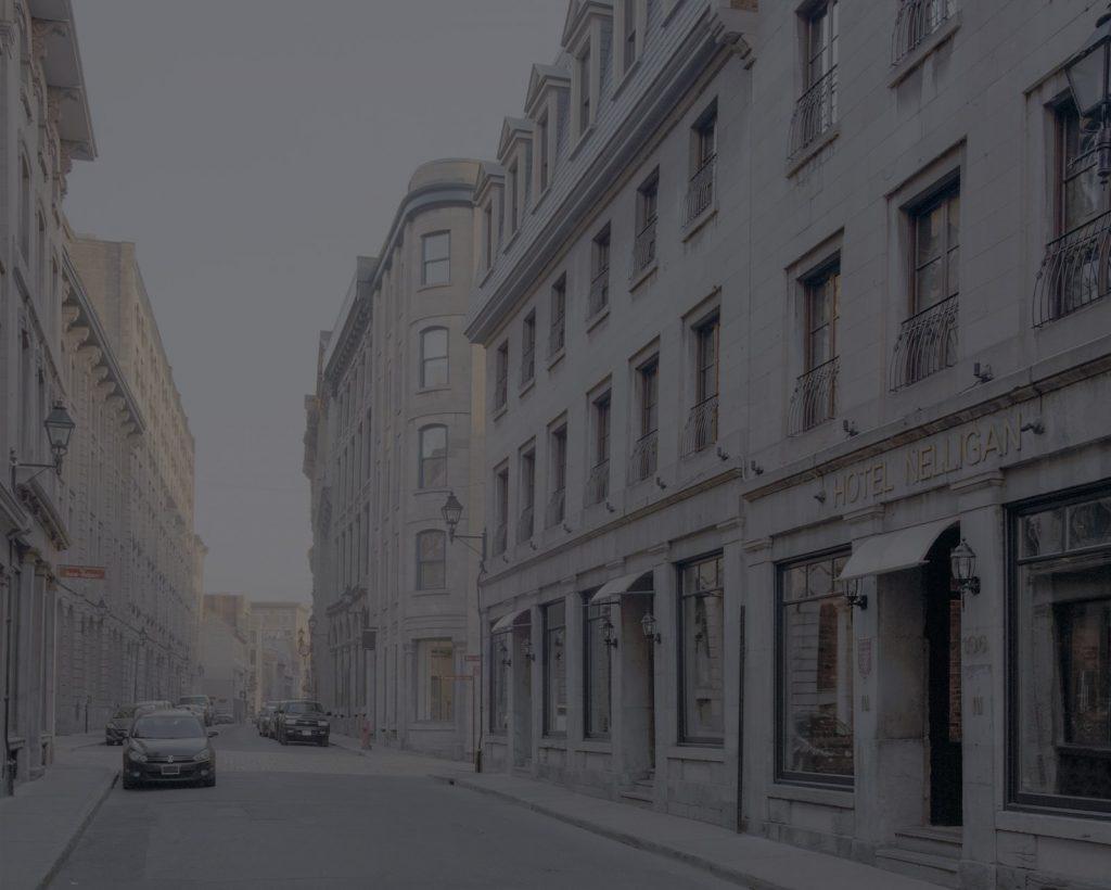 Façade de l'Hôtel Nelligan sur la rue Saint Paul